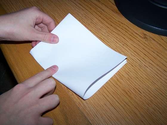 papier meer dan zeven keer vouwen